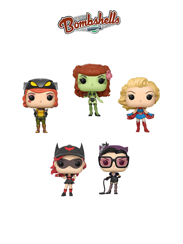 Funko DC Bombshells Poison Ivy Catwoman Batwoman Hawkgirl & Supergirl
