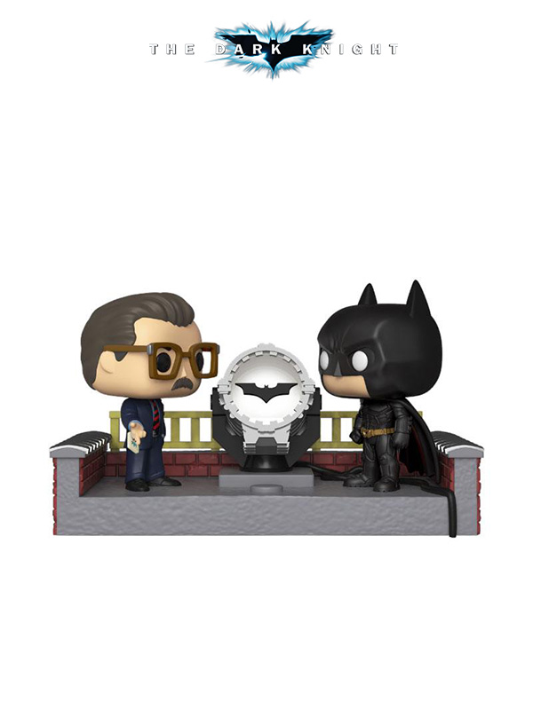 Funko Movie Moments DC Batman And Gordon Wtih Batsignal