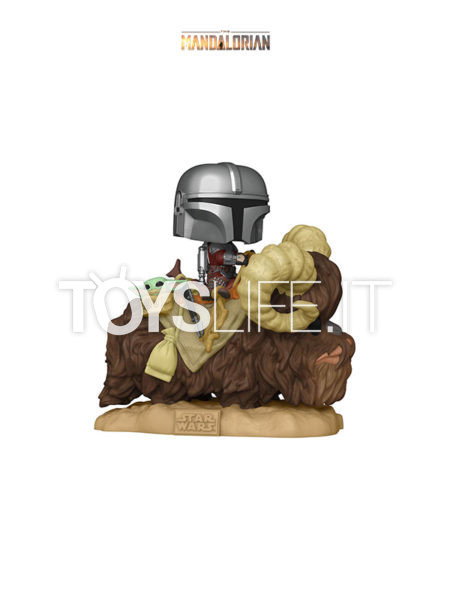 Funko Deluxe Star Wars The Mandalorian The Mandalorian On Bantha with Child in Bag