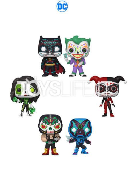 Funko Dia De Los DC Joker/ Batman/ Harley Quinn/ Jessica Cruz Green Lantern/ Bane/ Blue Beetle