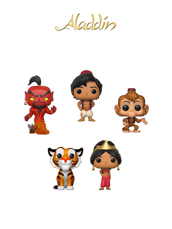 Funko Disney Aladdin Wave 2017 Aladdin Abu Jasmine Rajah Red Jafar