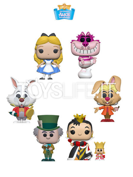 Funko Disney Alice In Wonderland 70th Anniversary Alice/ Cheshire/ Mad Hatter/ White Rabbit/ March Hare/ Queen Of Heart