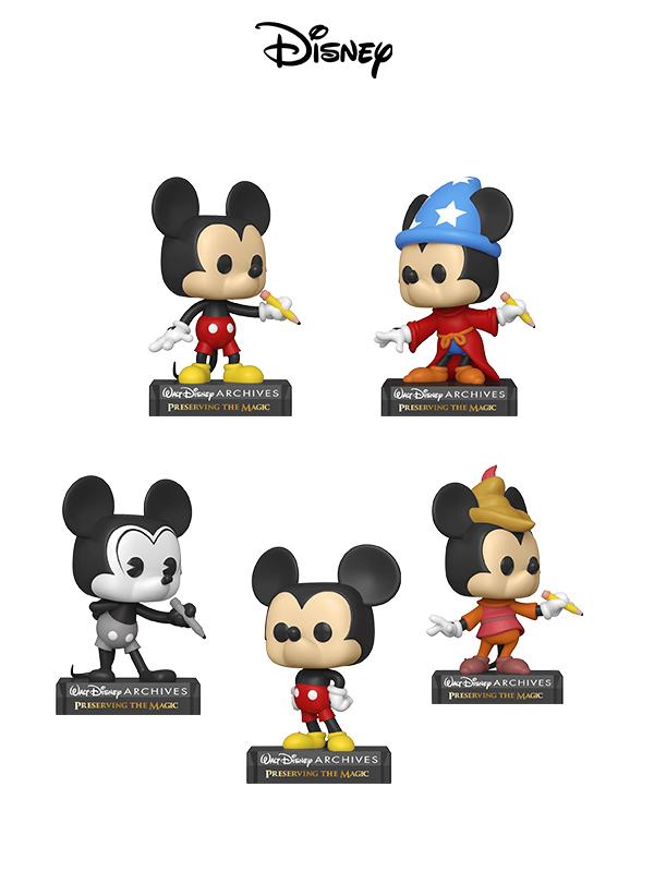 Funko Disney Archives Mickey Mouse/Sorcerer Mickey/Plane Crazy Mickey/Beanstalk Mickey/Classic Mickey