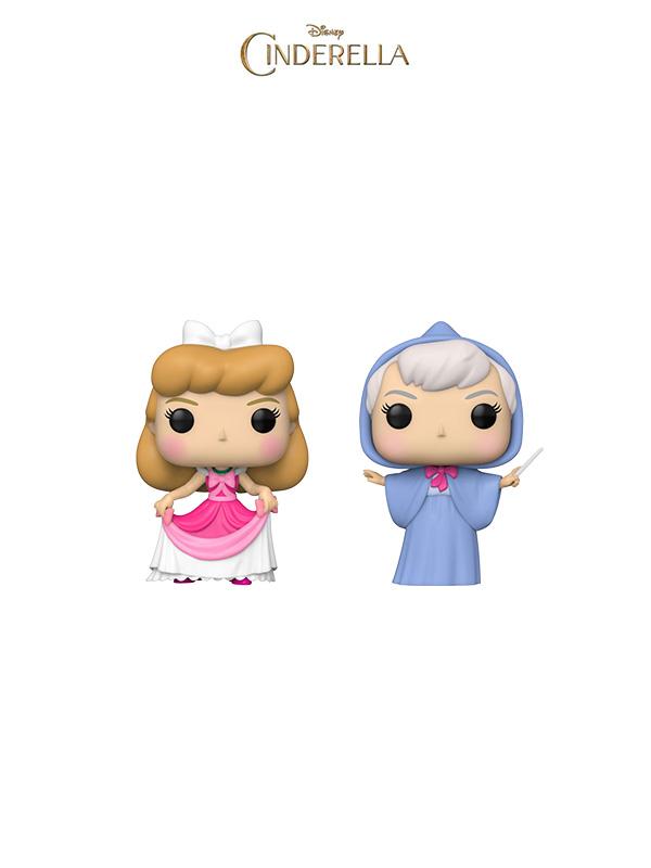 Funko Disney Cinderella Fairy Godmother/ Cinderella in Pink Dress