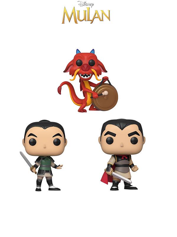 Funko Disney Mulan Mushu/ Mulan as Ping/ Li Shang