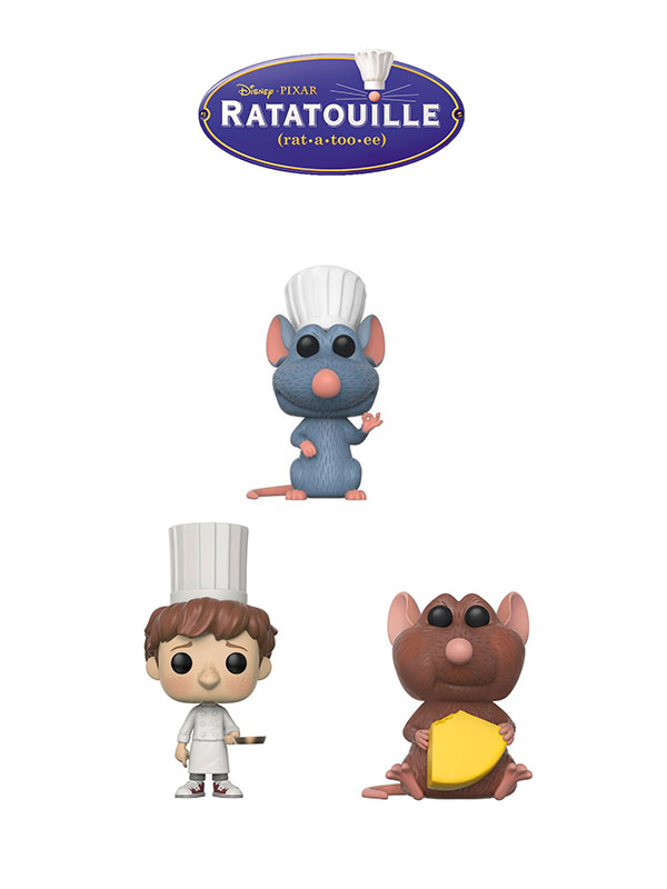 Funko Disney Ratatouille Remy Emile & Linguini