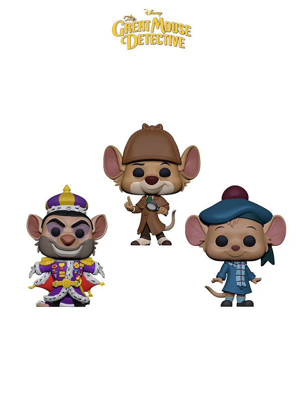 Funko Disney The Great Mouse Detective Basil/ Ratigan/ Olivia