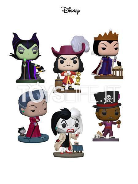 Funko Disney Villains Captain Hook/ Cruella De Vil/ Maleficent/ Evil Queen/ Lady Tremaine/ Doctor Facilier