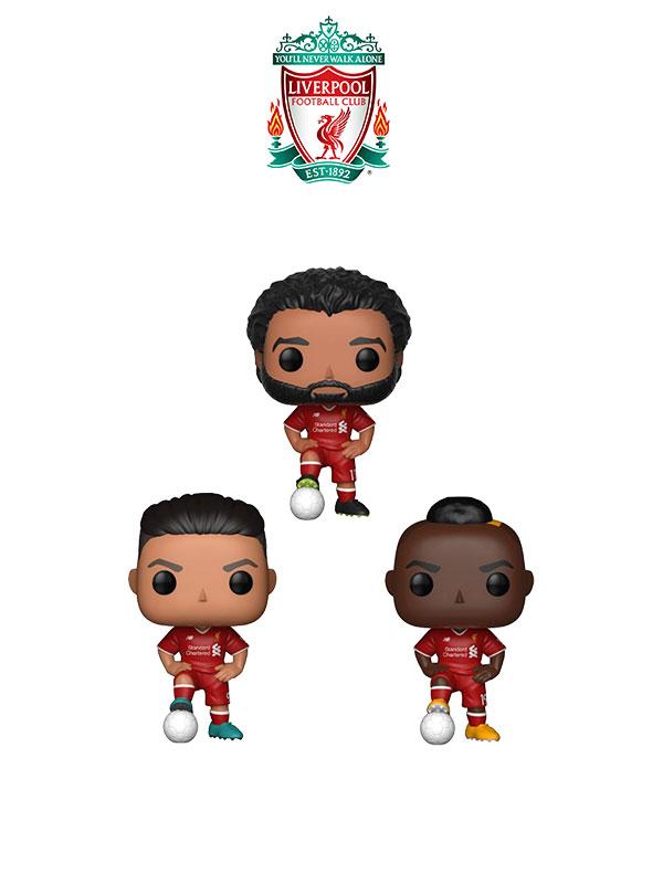 Funko Football Liverpool Salah Firmino Mané