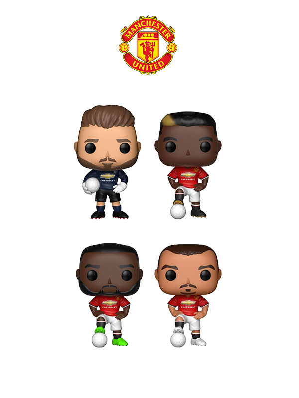 Funko Football Manchester UTD De Gea Pogba Lukaku & Ibrahimovic