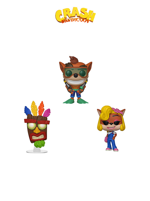 Funko Games Crash Bandicoot Scuba Crash Aku Aku & Coco