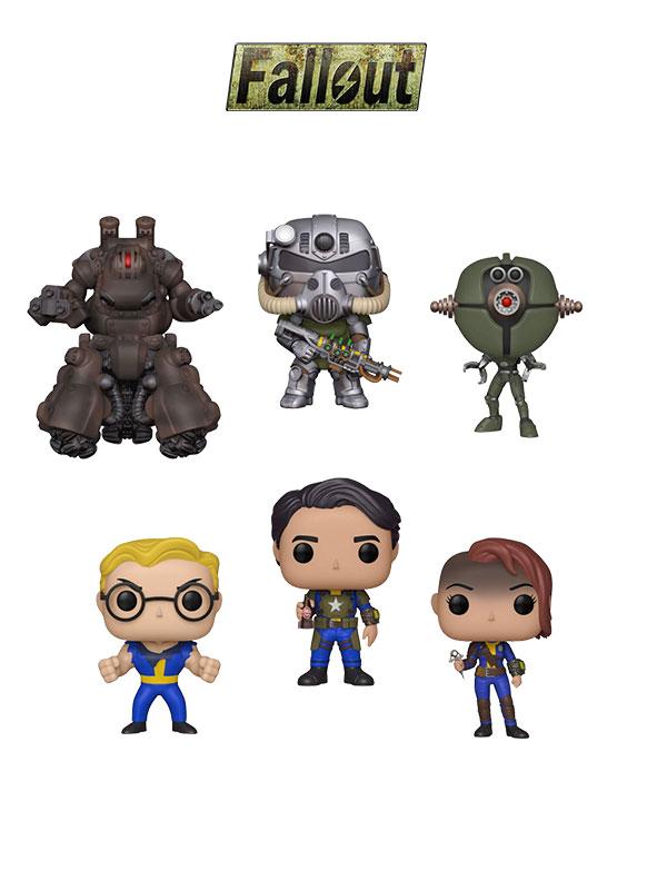 Funko Games Fallout Assautron/T-51Power Armor/Sentry Bot/Vault Dweller Male/Vualt Dweller Female/Vault Nerd Rage