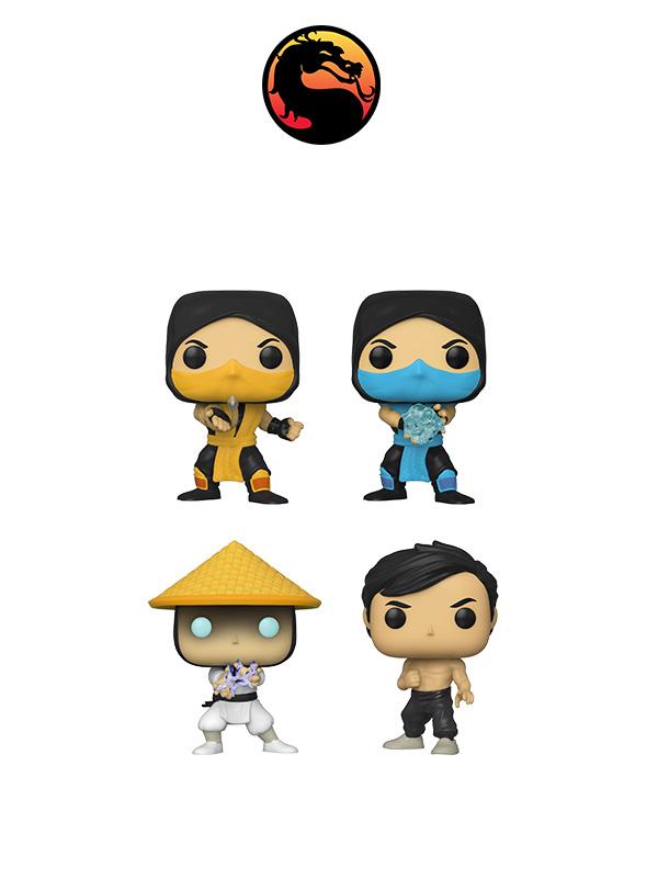 Funko Games Mortal Kombat Sub-zero/Scorpion/Raiden/Liu Kang