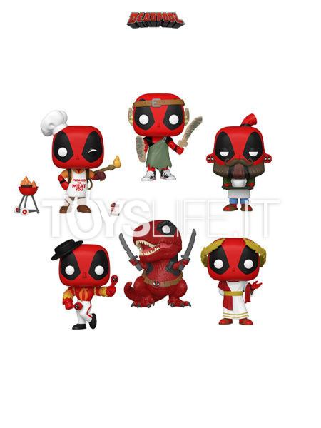 Funko Marvel Deadpool 30th Anniversary Flamenco/ Senator/ Nerd/ Dinopool/ Backyard Griller/ Coffee Barista Deadpool