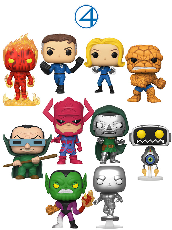 Funko Marvel Fantastic Four Wave 2019