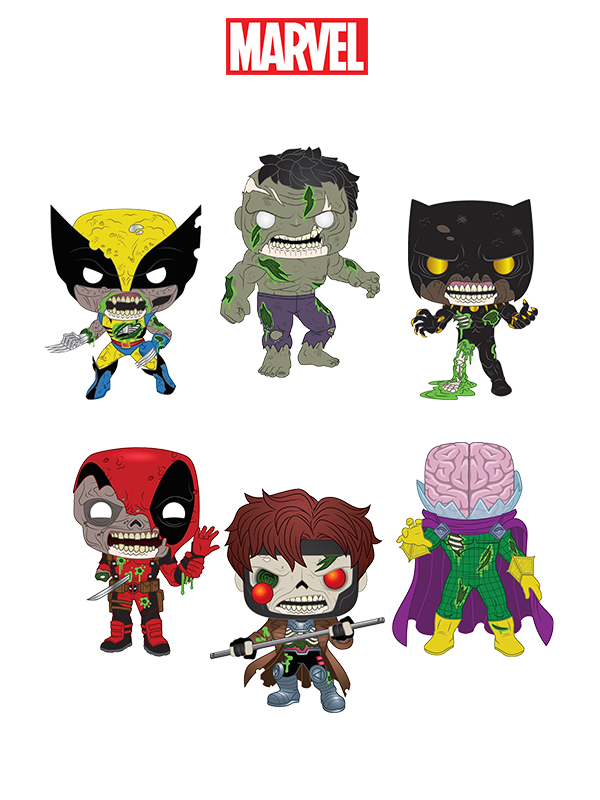 Funko Marvel Zombies Wolverine/Gambit/Hulk/Deadpool/Black Panther/Mysterio