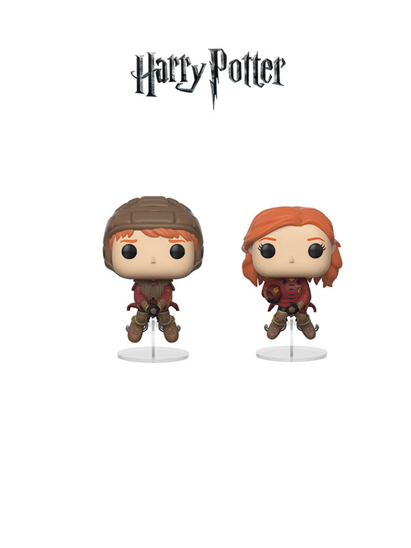 Funko Movies Harry Potter Ron And Ginnie On Brooms