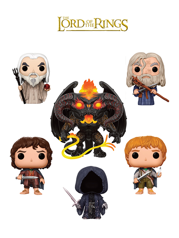 Funko Movies The Lord Of The Rings Saruman Gandalf Frodo Sam Nazgul & Balrgog