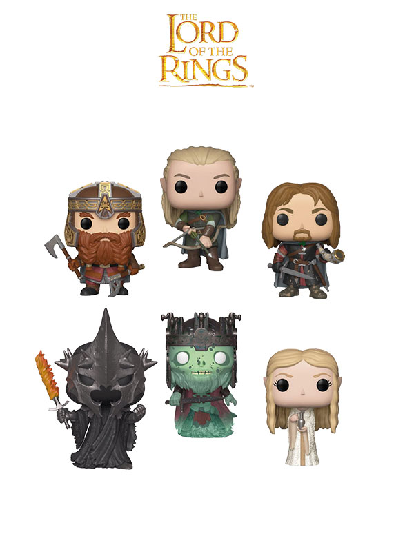 Funko Movies Lord Of The Rings Legolas Boromir Gimli Galadriel Witch King & Dunharrow King