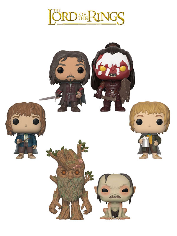 Funko Movies The Lord Of The Rings Aragorn Pippin Merry Lurtz Gollum & Treebeard