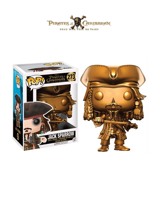 Funko Movies Pirates Of The Caribbean Dead Mens Tells No Tales Jack Sparrow Gold Limited