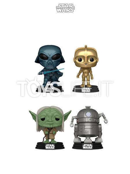 Funko Movies Star Wars Concept Darth Vader/ Yoda/ C3PO/ R2D2