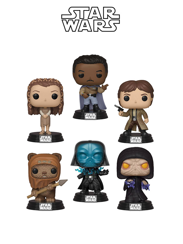 Funko Movies Star Wars Wave 2019 Lando Calrissian/Han Solo/Princess Leia/Darth Vader/Emperor Palpatine/Wicket W. Warrick