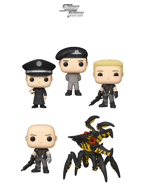 Funko Movies Starship Troopers Johnny Rico/ Carl Jenkins/ Ace Levy/ Jean Rasczak/ Warrior Bug