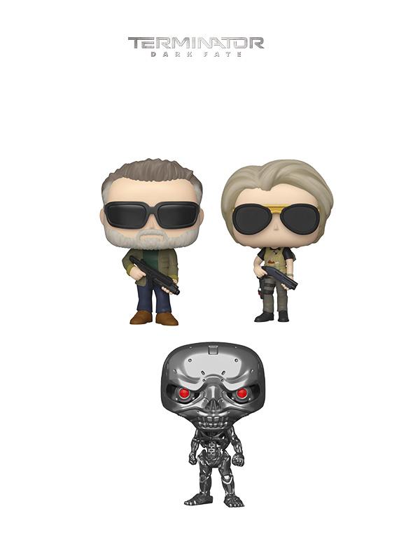 Funko Movies Terminator Dark Fate T-800/ Sarah Connor/ Rev-Endoskeleton