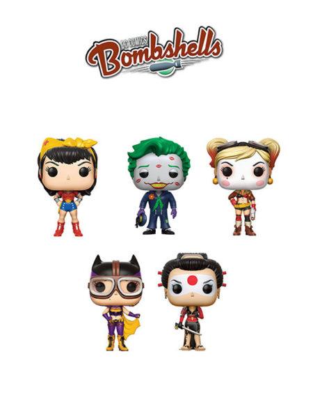Funko Dc Bombshells Joker Harley Quinn Wonder Woman Batgirl & Katana