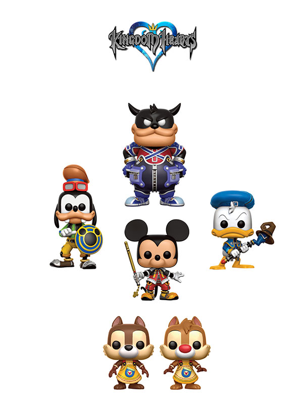 Funko Games Kingdom Heart Pete Mickey Goofy Donald and Chip & Dale Pack