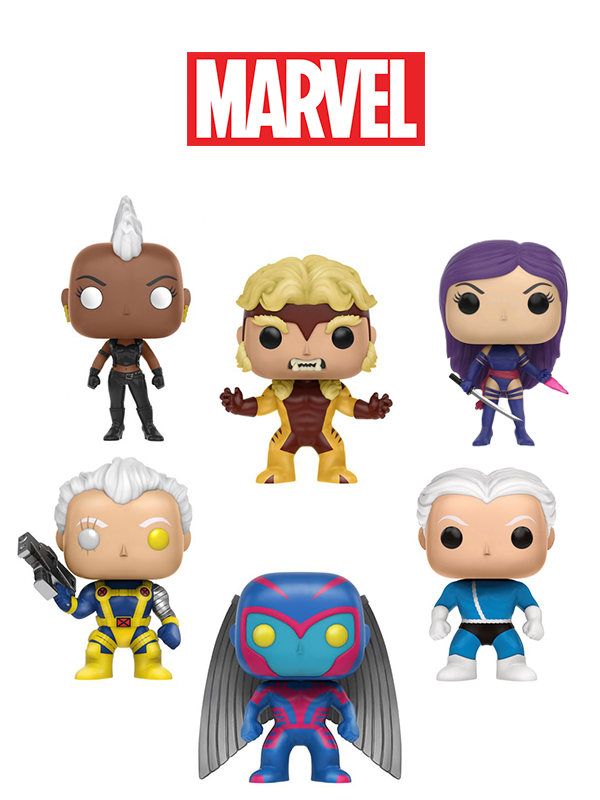 Funko Marvel X-Men Storm Cable Quicksilver Sabretooth Archangel Psylocke