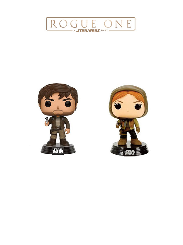 Funko Movies Star Wars Rogue One Captain Cassian & Jyn Erso Hooded Limited