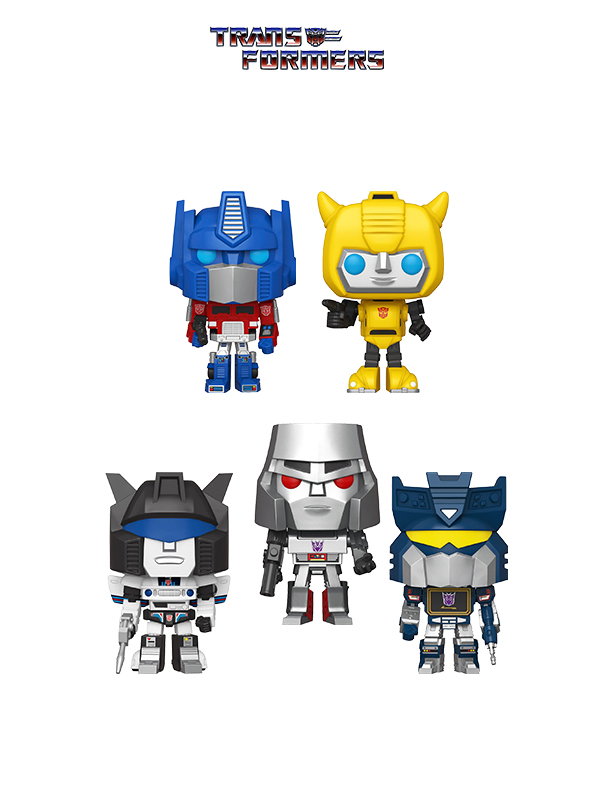 Funko Retrò Toys Transformers Optimus/ Bumblebee/ Megatron/ Jazz/ Soundwave
