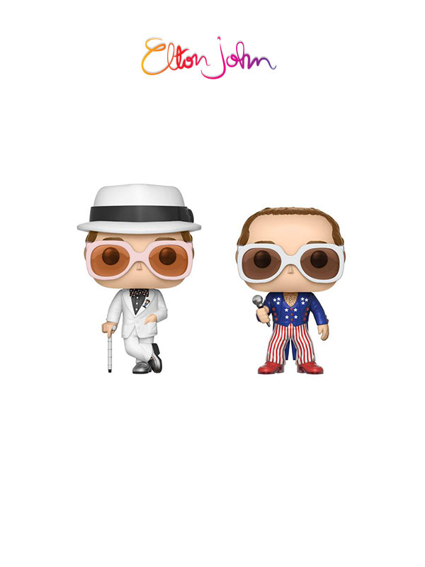 Funko Rocks Elton John White Suit & Patriotic