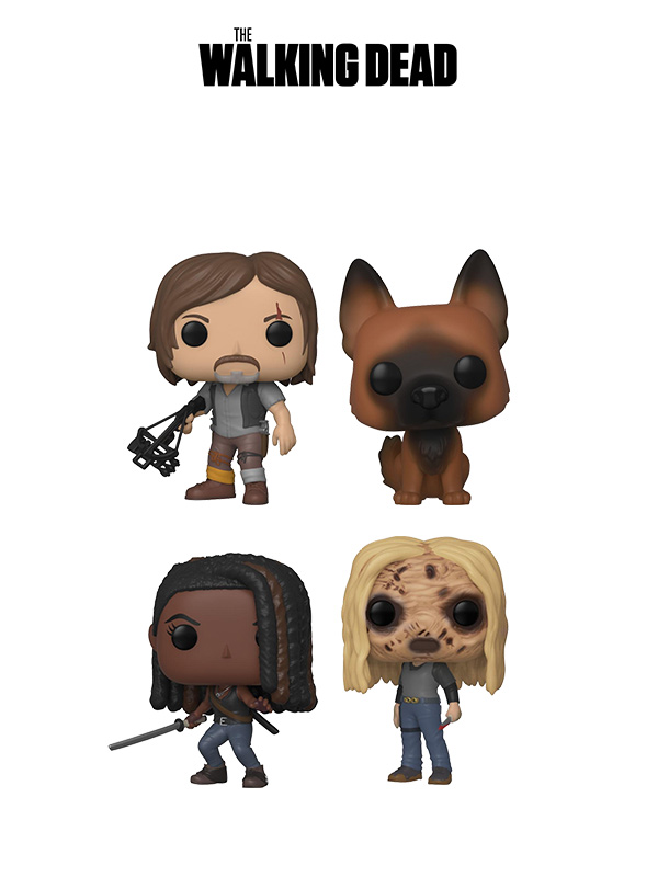 Funko Television The Walking Dead Wave 2019 Daryl/Dog/Michonne/Alpha