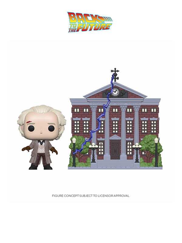 Funko Town Back To The Future Doc And Clock Tower
