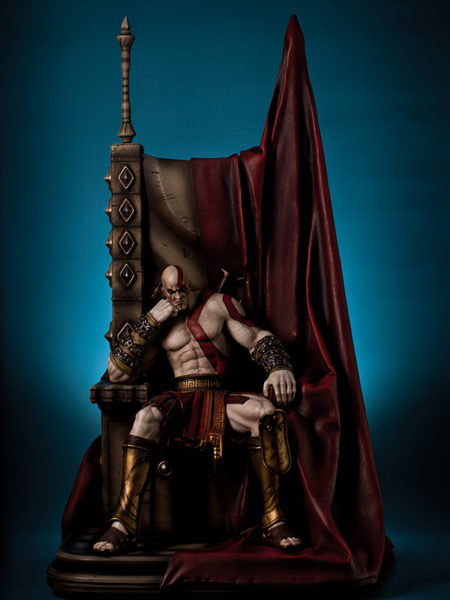 GAMING HEADS KRATOS ON THRONE 1:4 STATUE