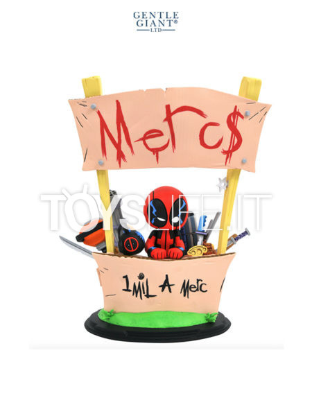 Gentle Giant Marvel Comics Deadpool Merc For Hire Animated Maquette By Skottie Young
