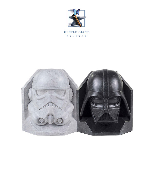 Gentle Giant Star Wars Stormtrooper & Darth Vader Bookends