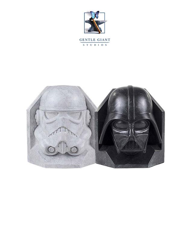 Gentle Giant Star Wars Stormtrooper & Darth Vader Bookends
