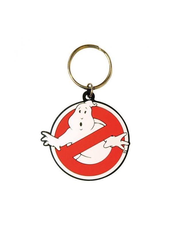 Ghostbusters Logo Rubber Keychain Portachiavi