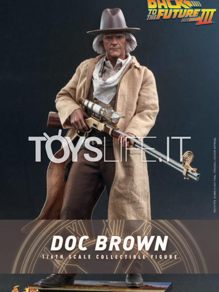 Hot Toys Back To The Future Part 3 Doc Brown 1:6 Figure