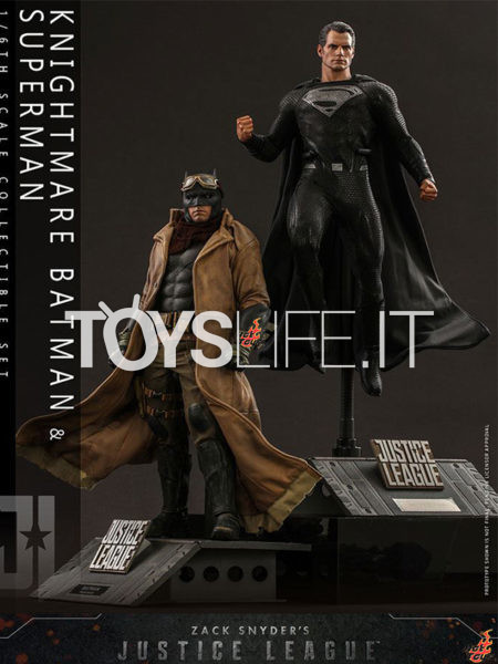 Hot Toys DC Snyder's Cut Justice League Batman Nightmare & Superman Black Suit 1:6 2-Pack Set