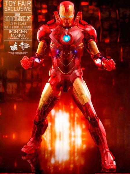Hot Toys Ironman 2 Ironman Mark IV Holographic Toyfair 2020 Exclusive 1:6 Figure