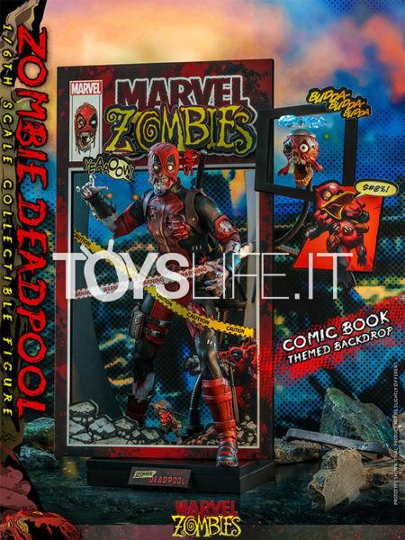 Hot Toys Marvel Zombies Comic Masterpiece Deadpool Zombie 1:6 Figure