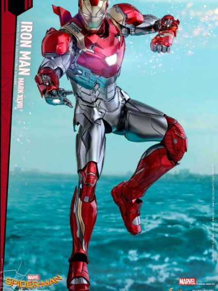 Hot Toys Spiderman Homecoming  Ironman Mark XLVII Diecast 1:6 Figure Reissue