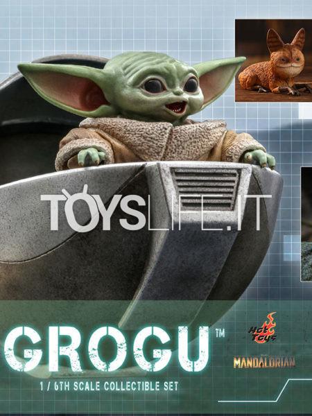 Hot Toys Star Wars The Mandalorian Grogu 1:6 Figure Set