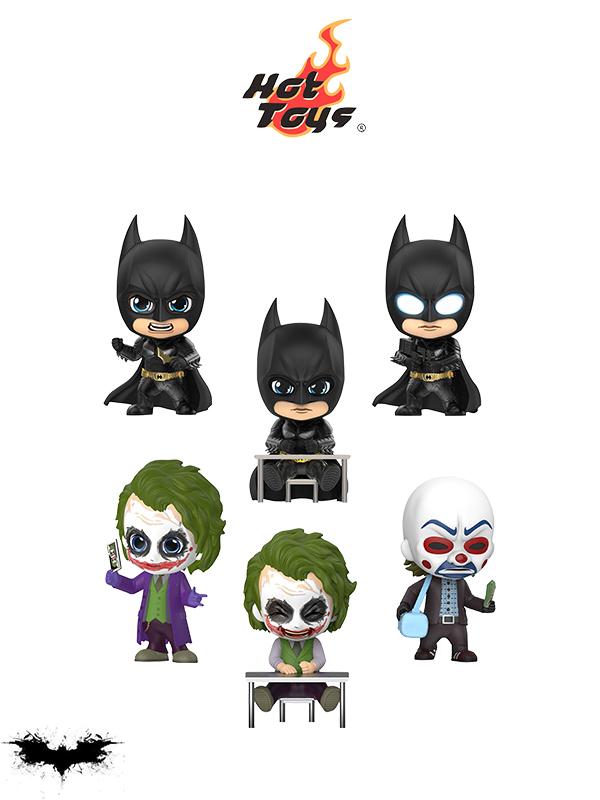 Hot Toys DC Batman The Dark Knight Trilogy Cosbaby Mini Figure Set
