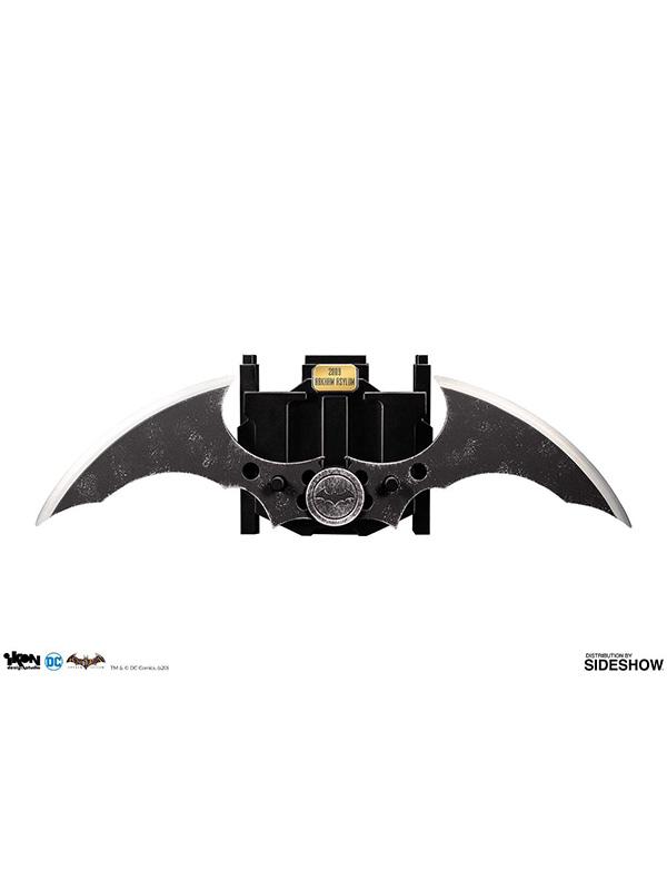 Ikon Studios DC Batman Arkham Asylum Batman Metal Batarang 1:1 Replica
